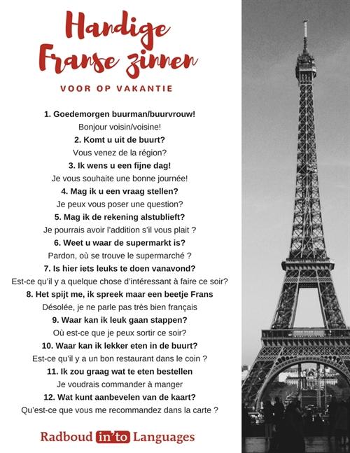 Handige Franse Zinnen Radboud Into Languages