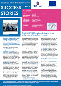 Research integrity project selected as Success Story